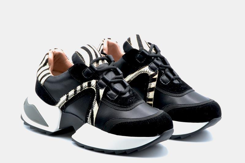 NOVITA' A/I 2021 Alexander Smith Calzatura Donna-Black Zebra M119244