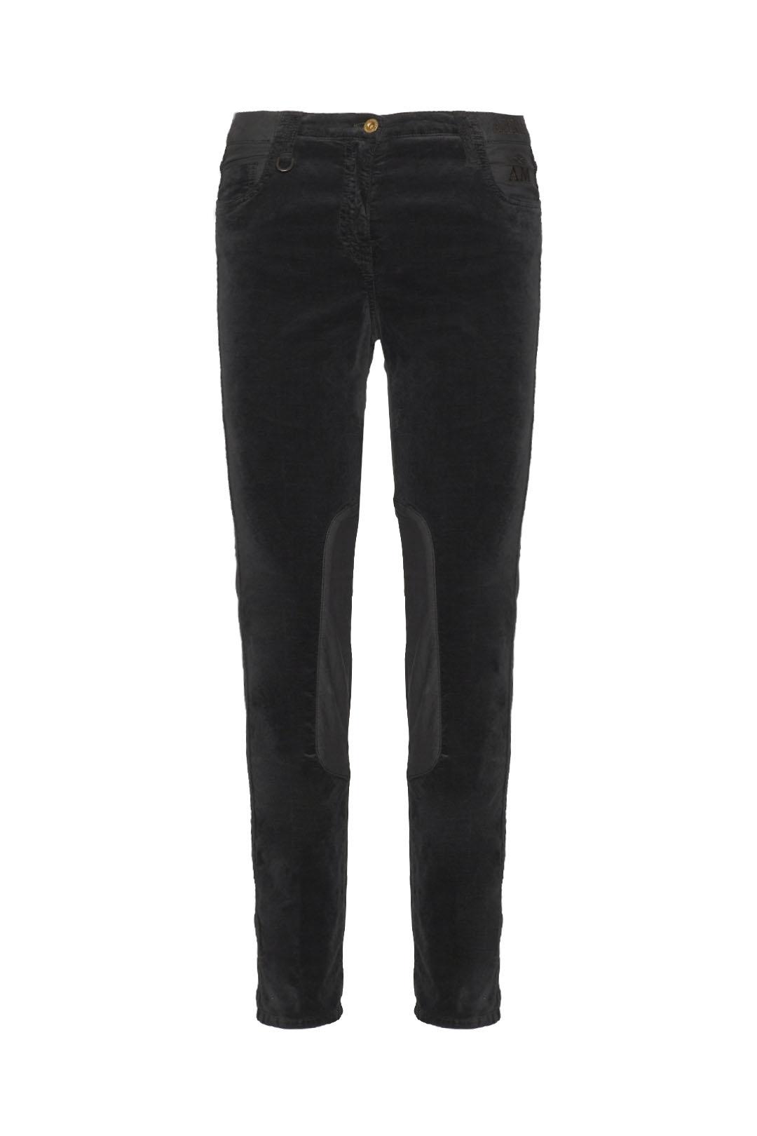 5-pockets velvet trousers with satin     1