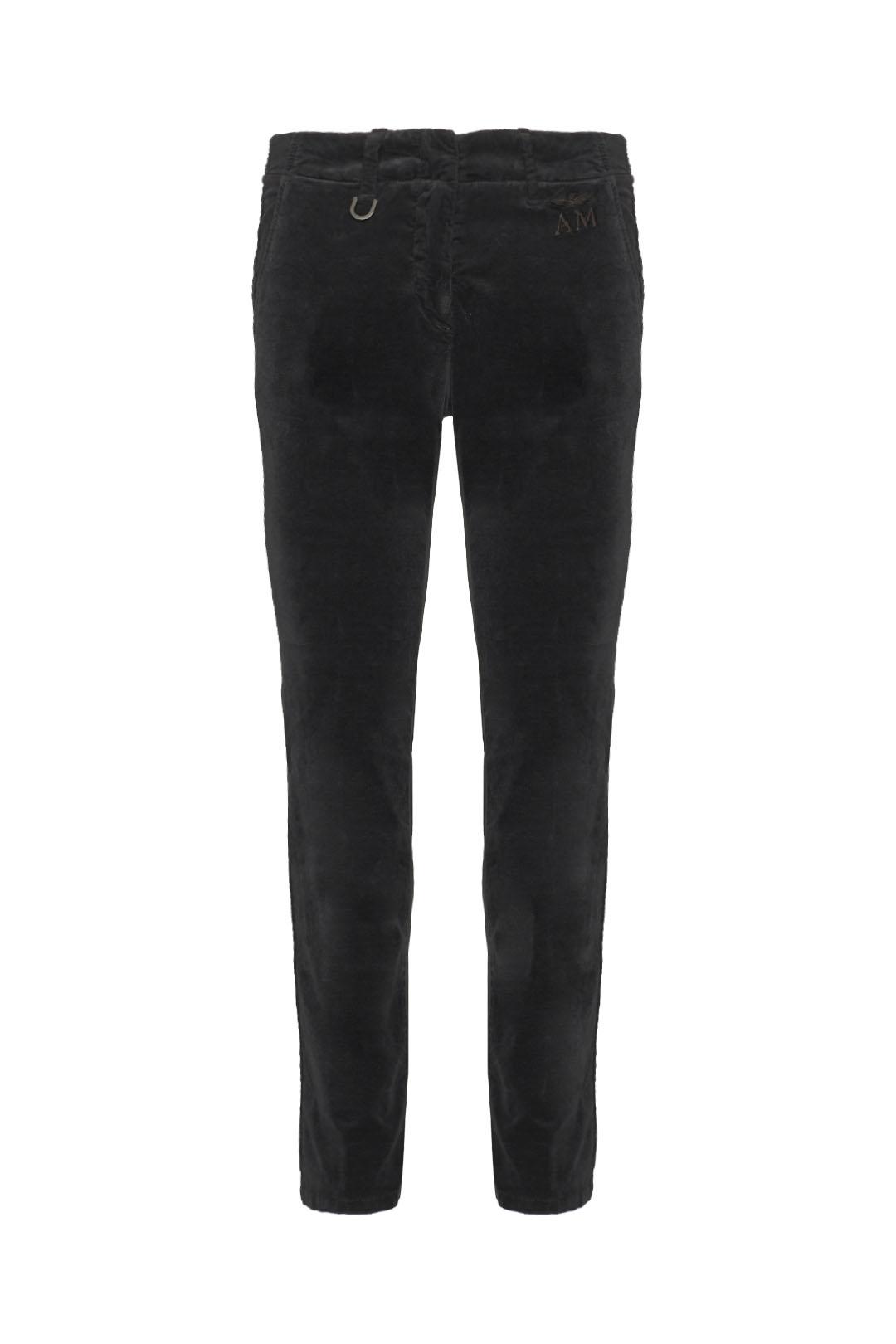 Straight leg velvet chino trousers       1