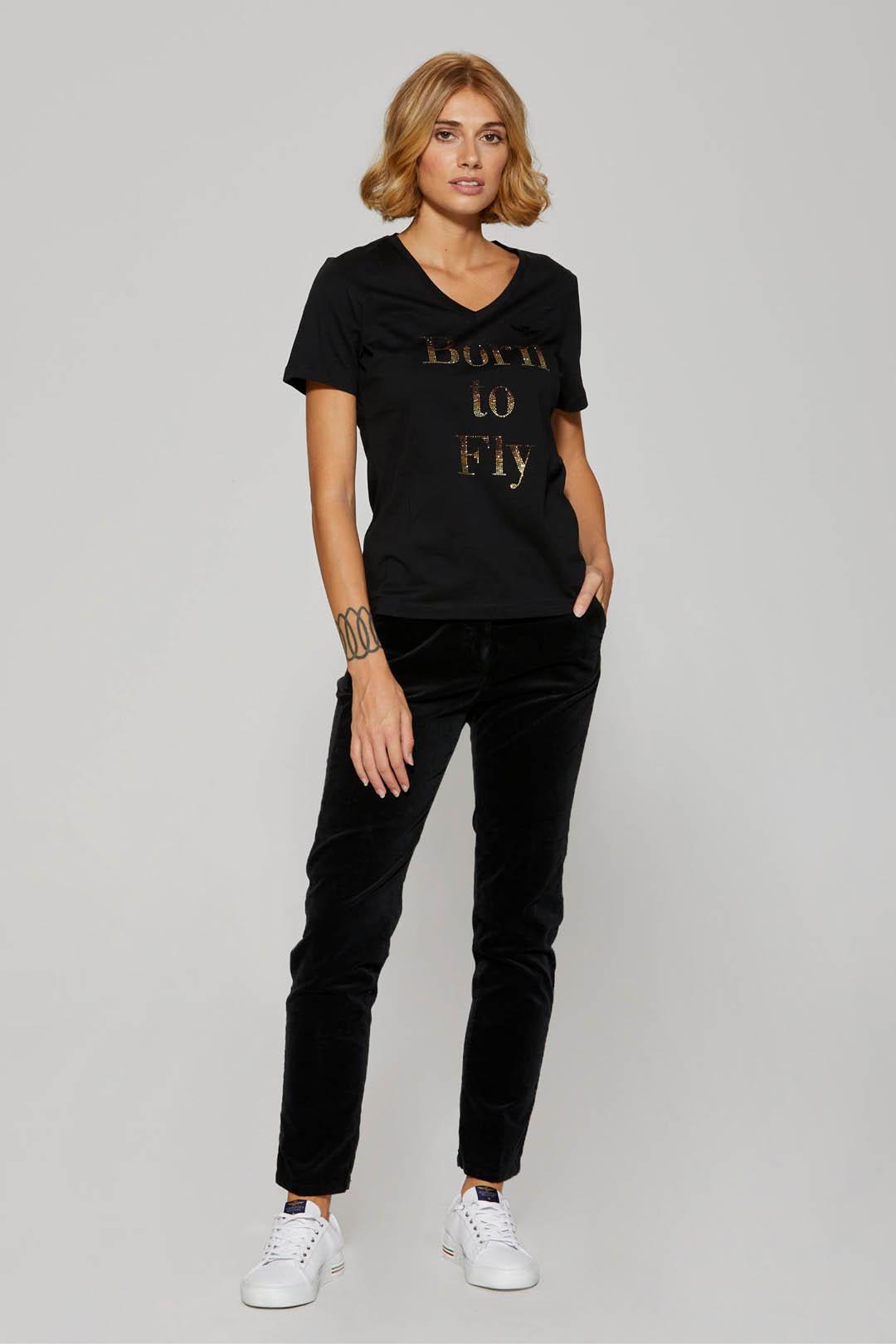 Straight leg velvet chino trousers       4
