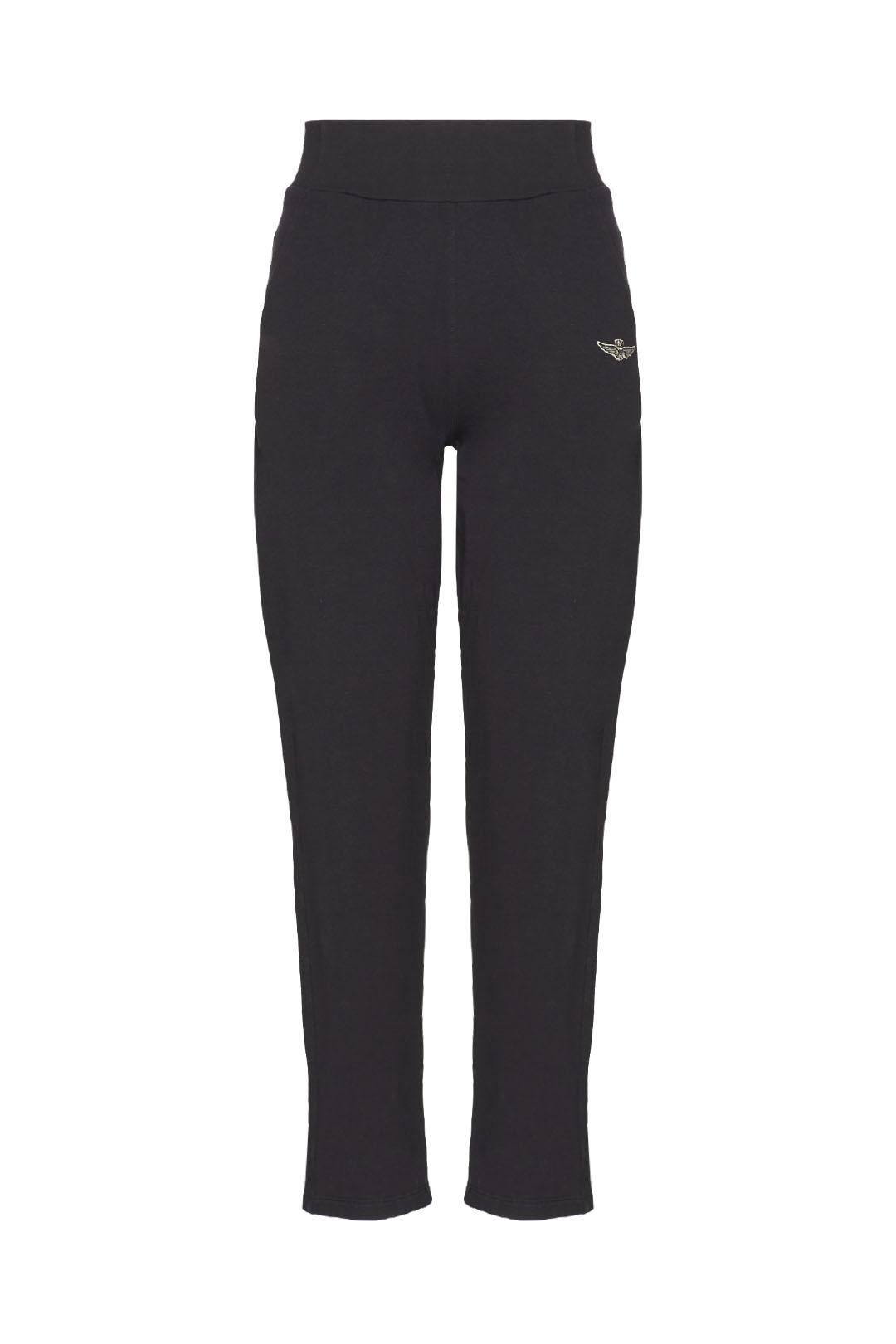 High-waisted stretch cotton sweatpants   1