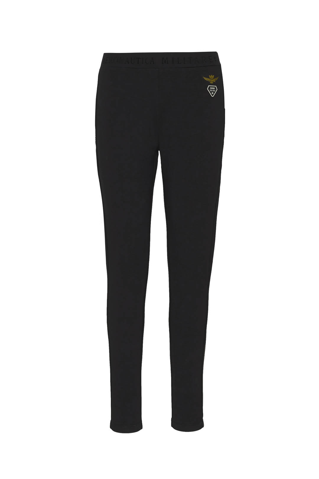Skinny stretch cotton sweatpants         1