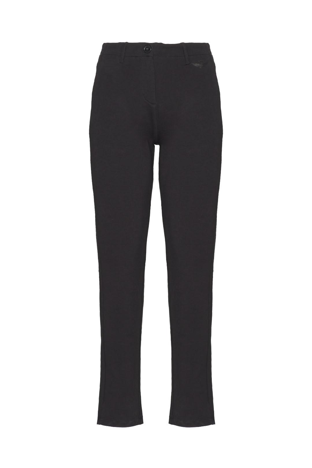 Stretch fleece cotton chino trousers     1
