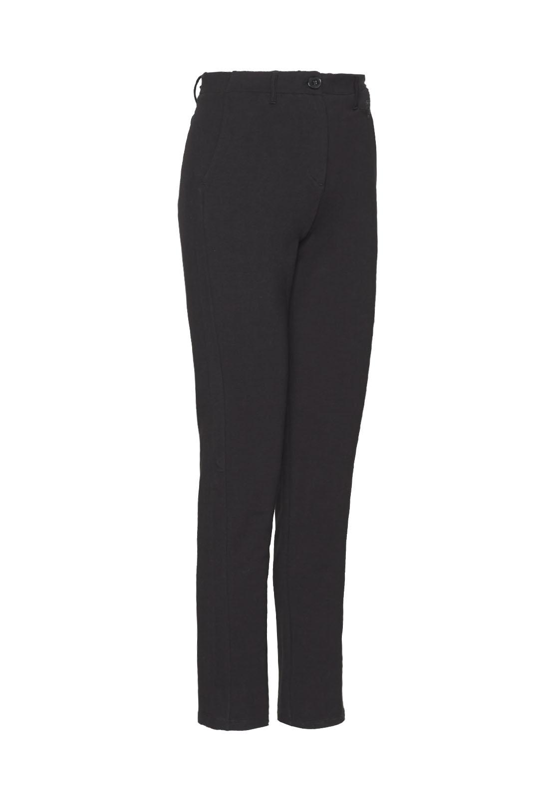 Stretch fleece cotton chino trousers     3