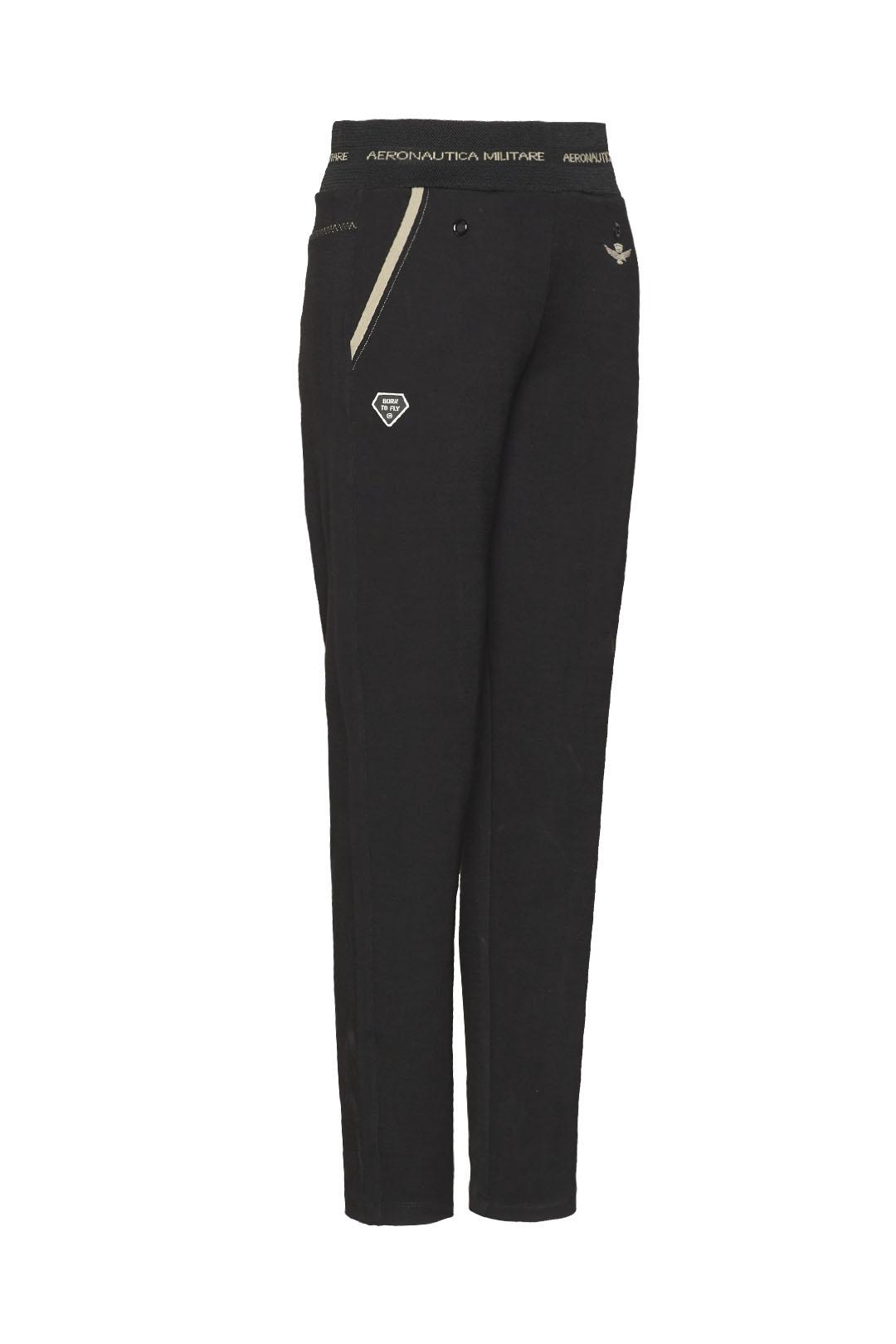 Stretch interlock sweatpants with logo   3