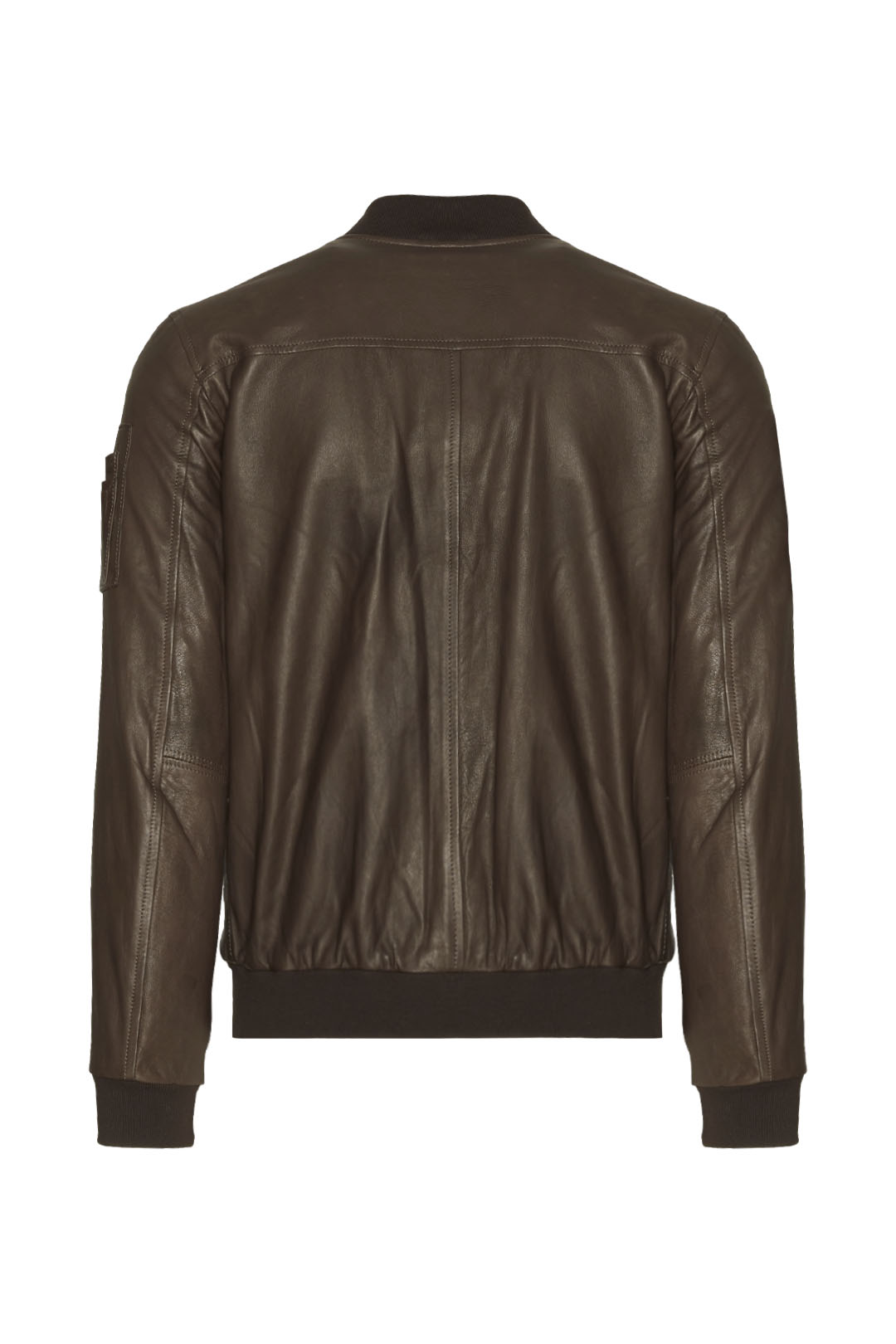 Soft leather jacket with metal eagle     2