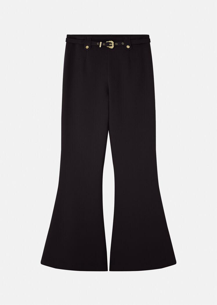 Pantalone palazzo nero di Versace Jeans Couture