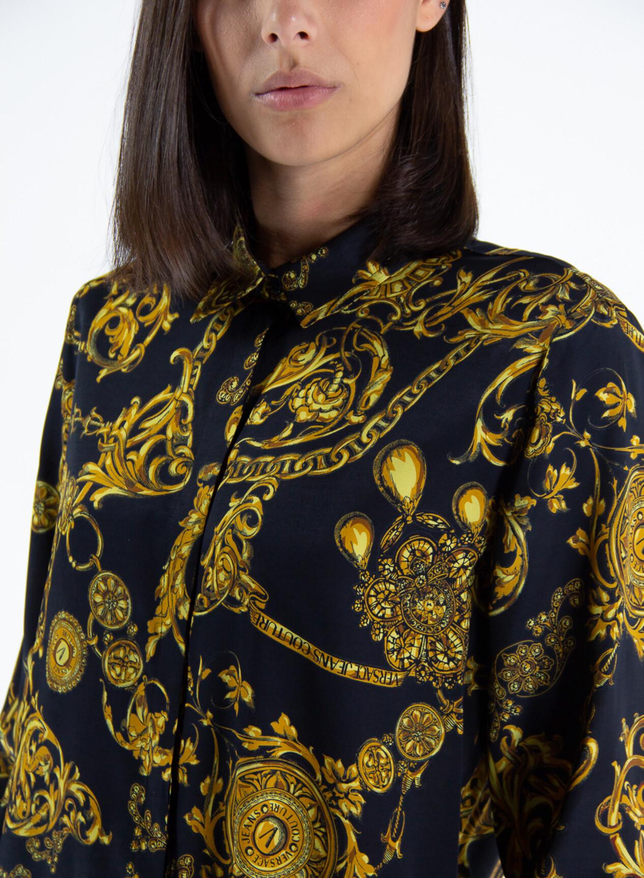 Camicia stampa baroque di Versace Jeans Couture