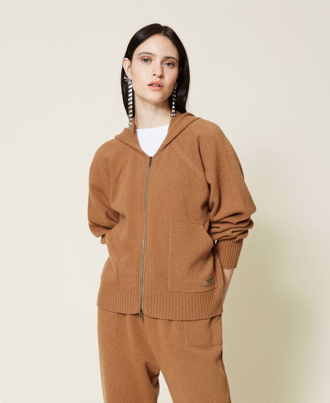 SHOPPING ON LINE TWINSET MILANO CARDIGAN IN LANA E CASHMERE NEW COLLECTION PREVIEW FALL WINTER 2022-2