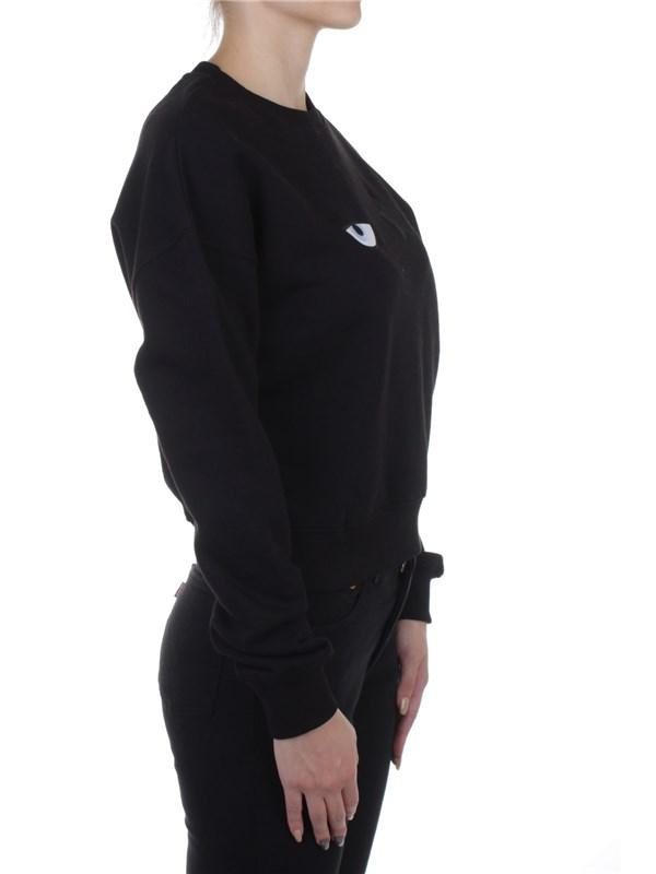 Felpa nera con logo davanti di Chiara Ferragni