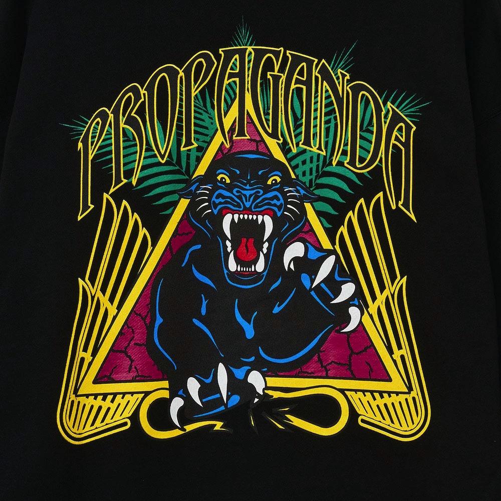 PROPAGANDA Hoodie Zip Panther Black