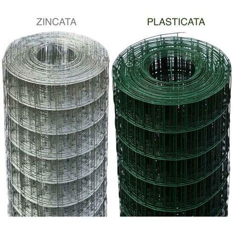 RETE RECINZIONE ELETTROSALDATA PLASTIFICATA MM 50X75 H 1,00X25ML