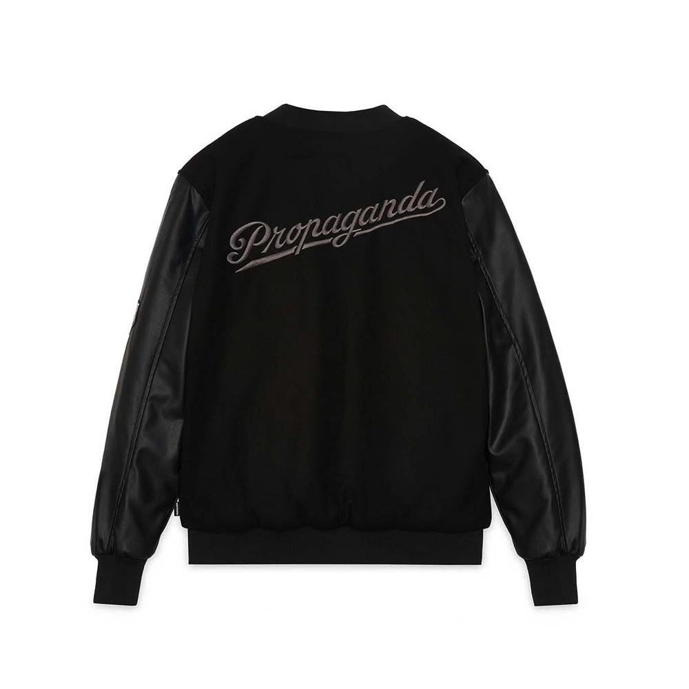PROPAGANDA Varsity Jacket Black