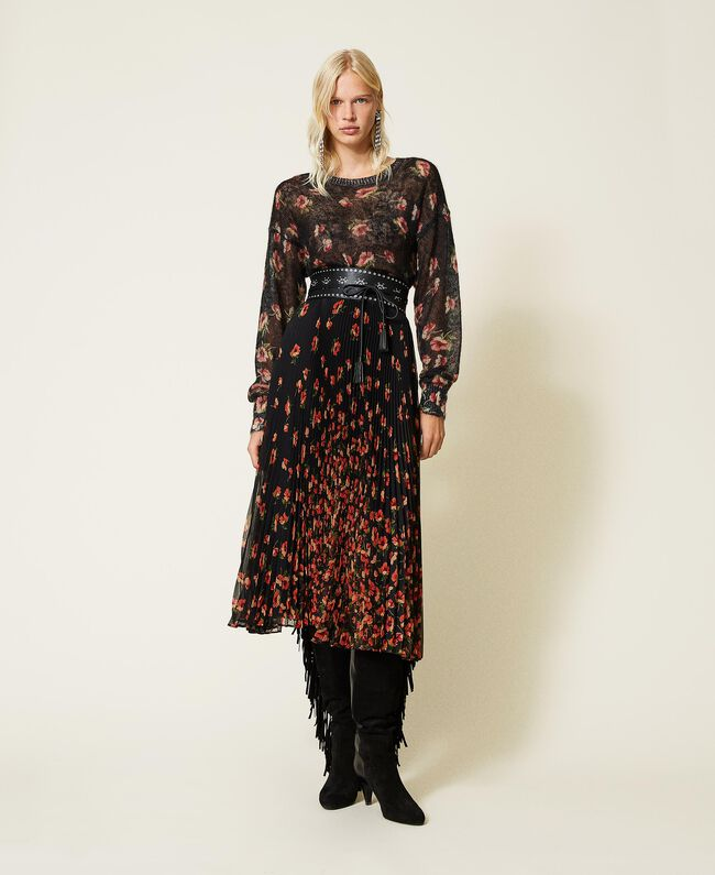 SHOPPING ON LINE TWINSET MILANO MAGLIA IN MOHAIR STAMPATO NEW COLLECTION PREVIEW FALL WINTER 2022