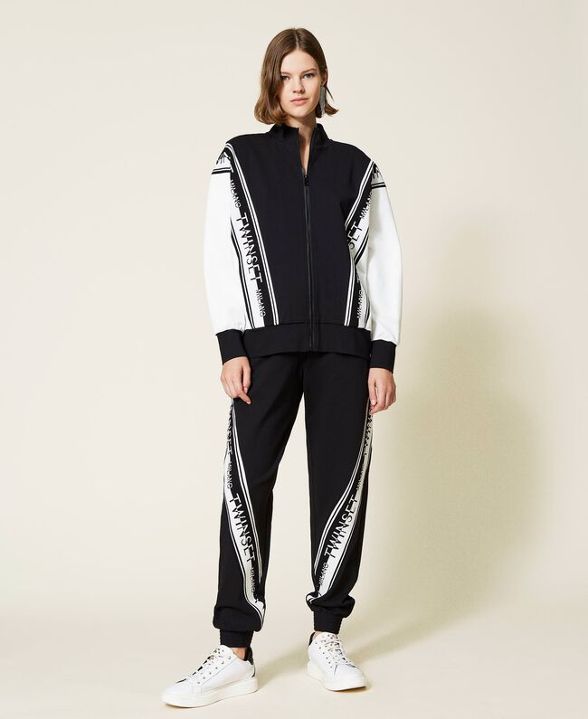 SHOPPING ON LINE TWINSET MILANO JOGGERS IN MAGLIA CON LOGO NEW COLLECTION PREVIEW FALL WINTER 2022