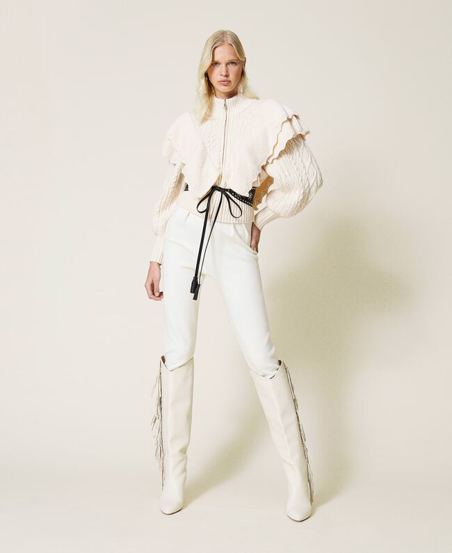 SHOPPING ON LINE TWINSET MILANO PANTALONI A SIGARETTA IN MAGLIA NEW COLLECTION PREVIEW FALL WINTER 2022