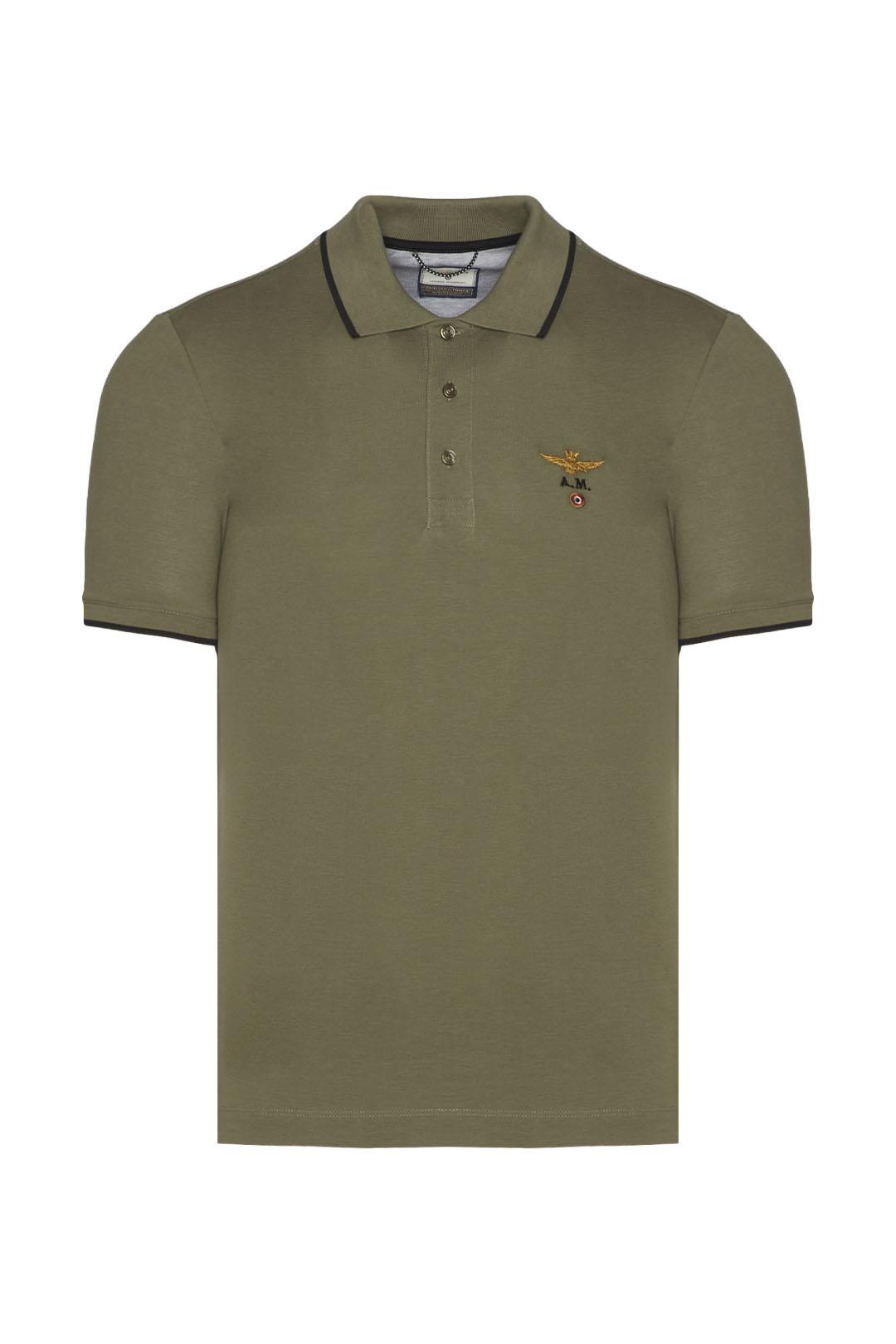 Basic style piqué polo shirt             1