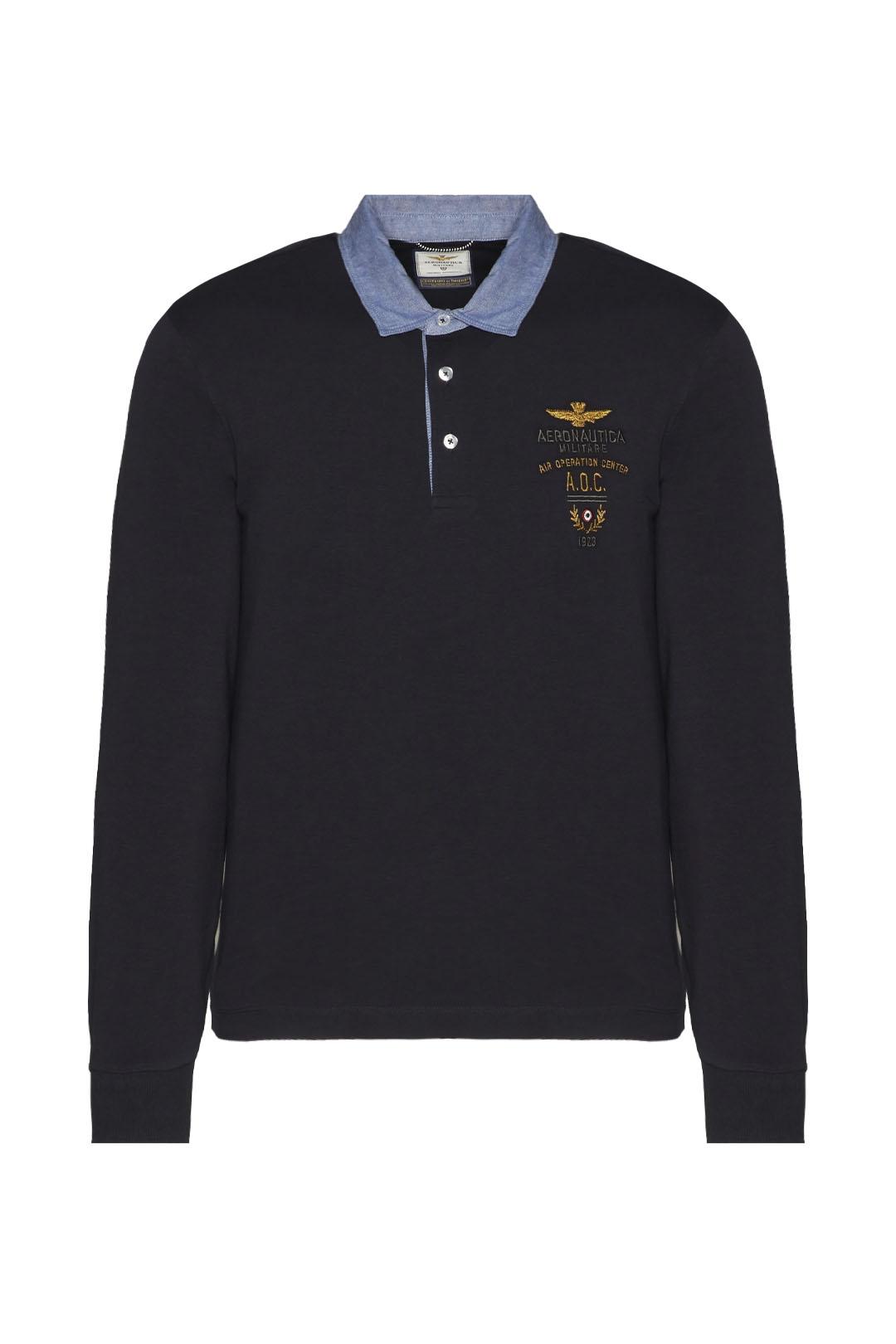 Poloshirt mit Kragen aus Oxford Stoff    1