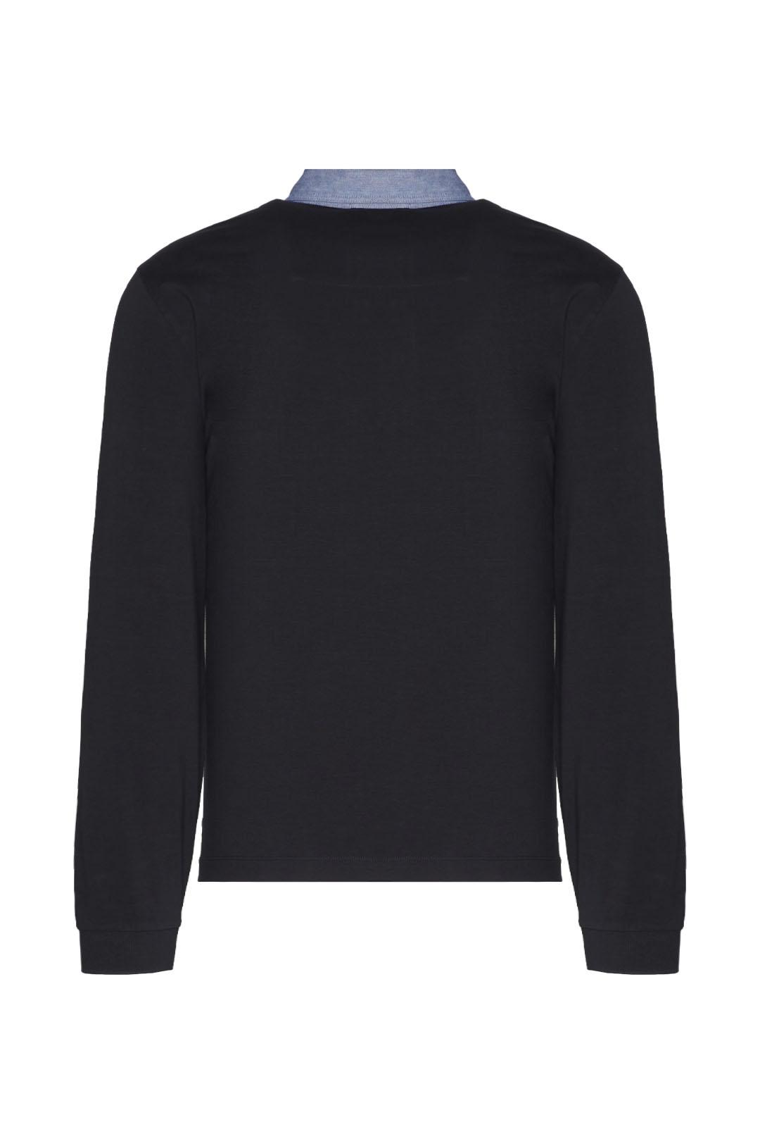 Poloshirt mit Kragen aus Oxford Stoff    2