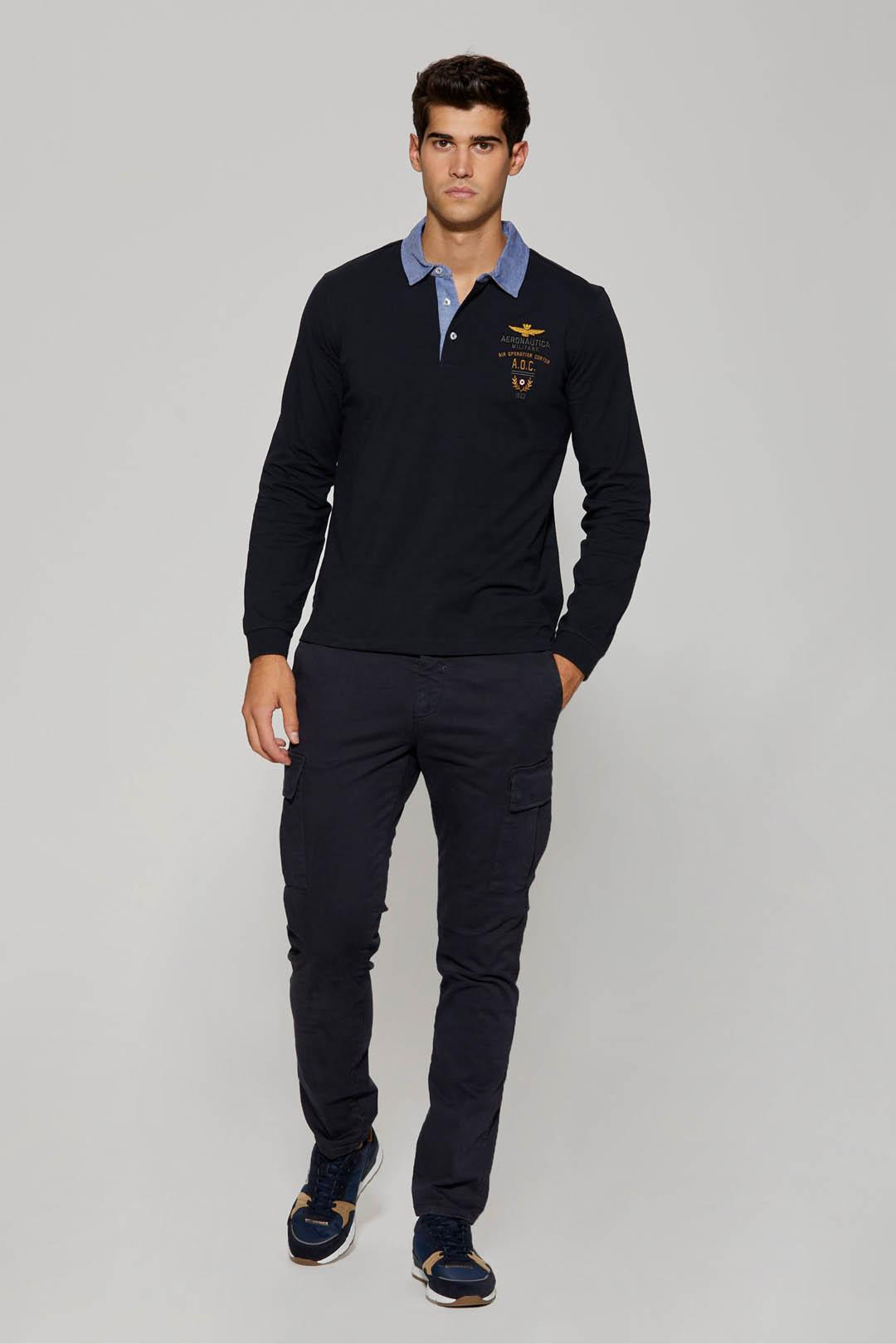 Poloshirt mit Kragen aus Oxford Stoff    4