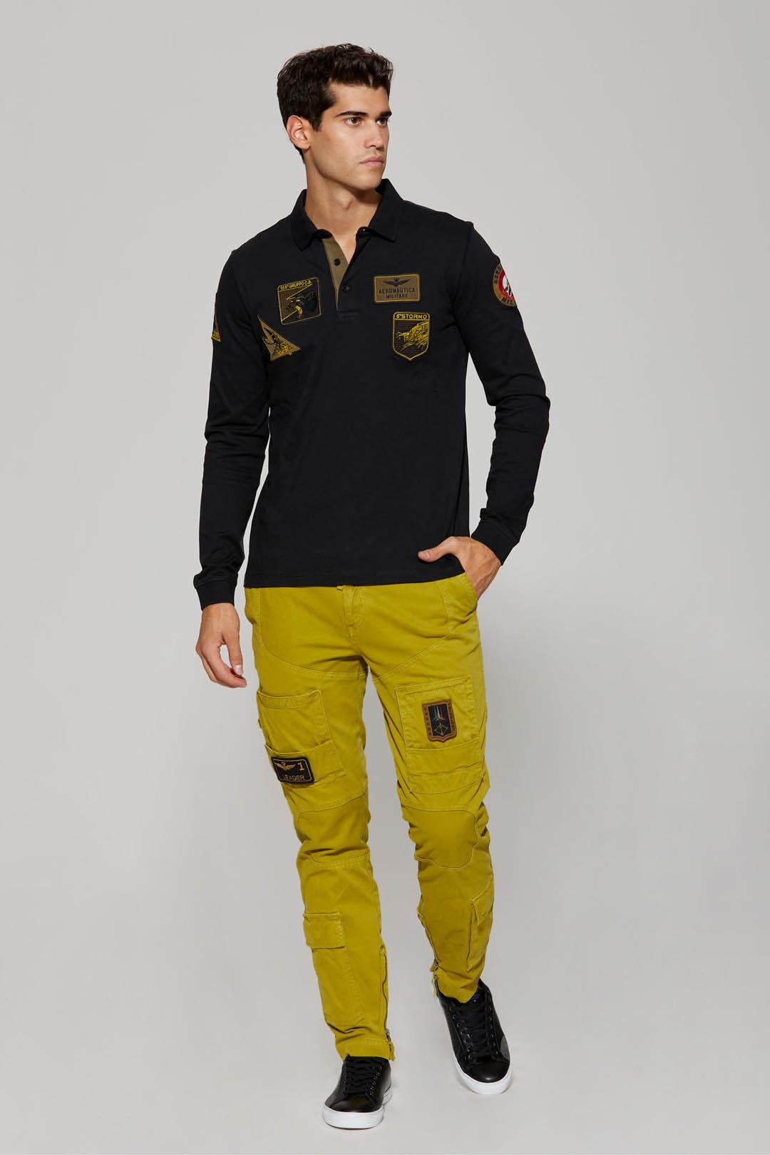 Poloshirt mit Patches                    4