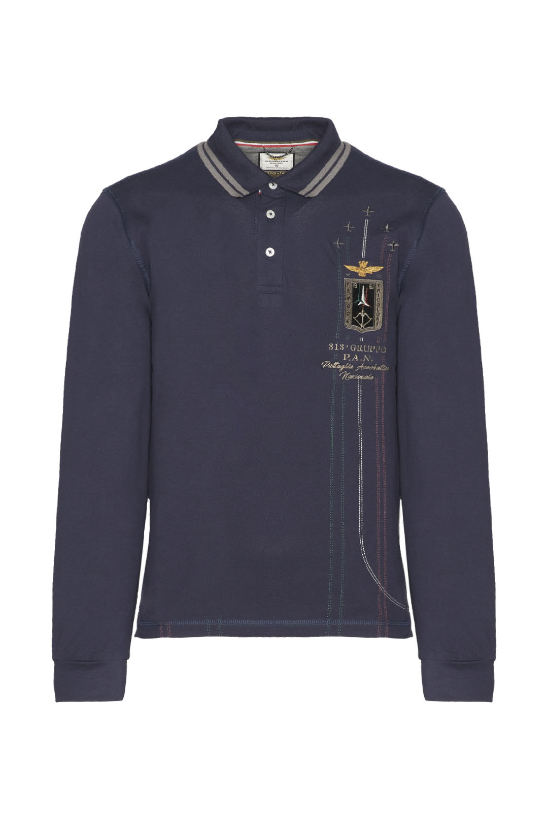 Embroidered Frecce Tricolori polo shirt  1
