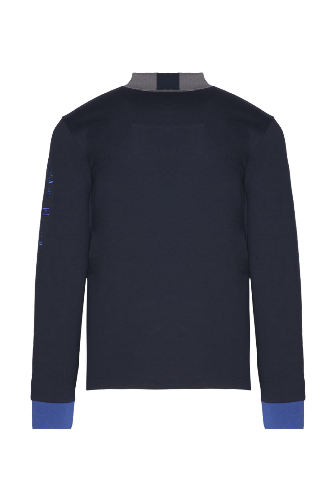Long-sleeved polo shirt with contrasts   2
