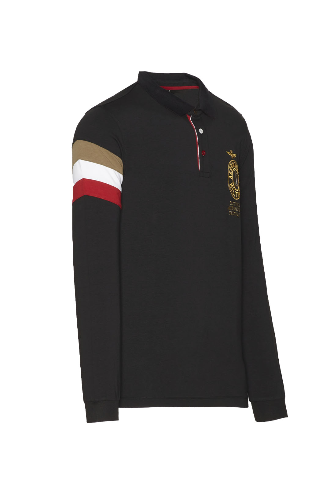 Long-sleeved tricolor polo shirt         3