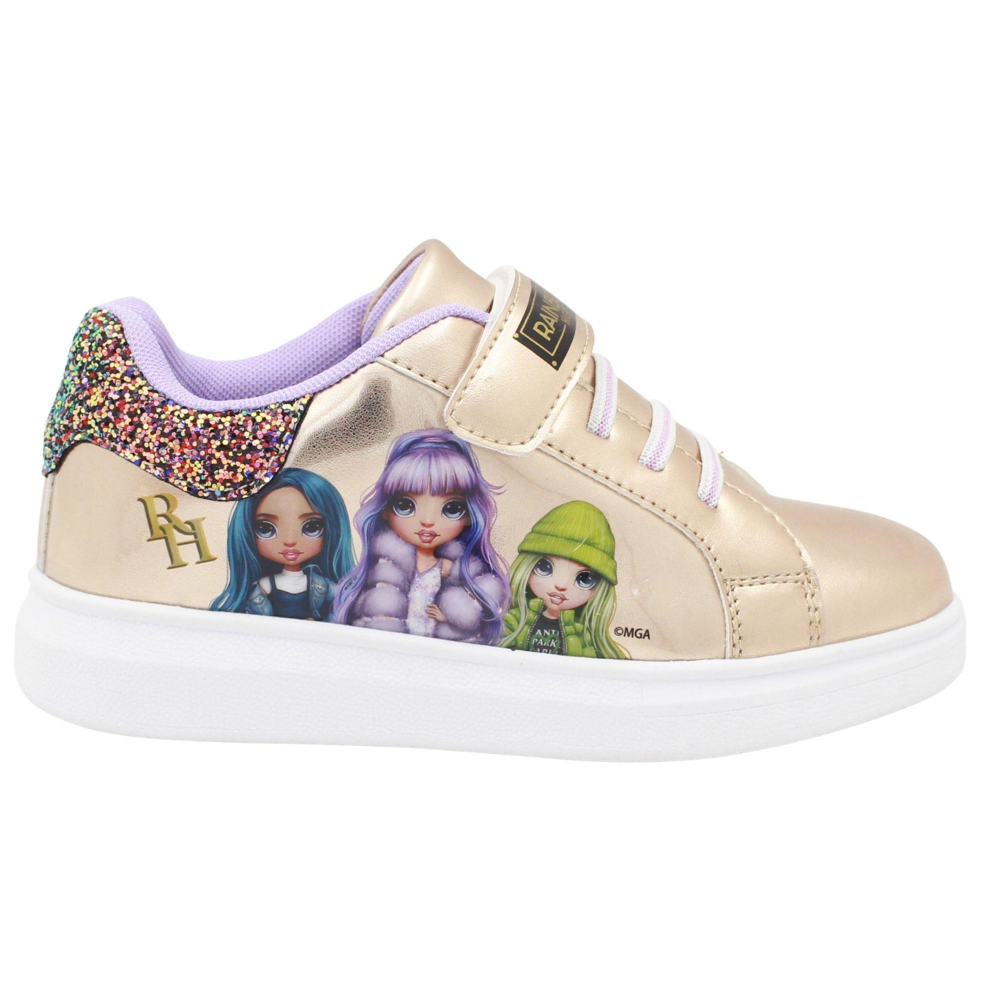 Scarpe Sneakers Rainbow High Platino e Violette Numeri dal 25 al 32 novità Omaggio Due pennarelli
