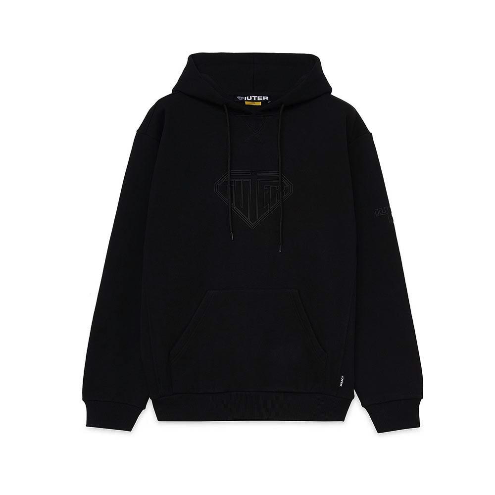 IUTER Hoodie Logo Black