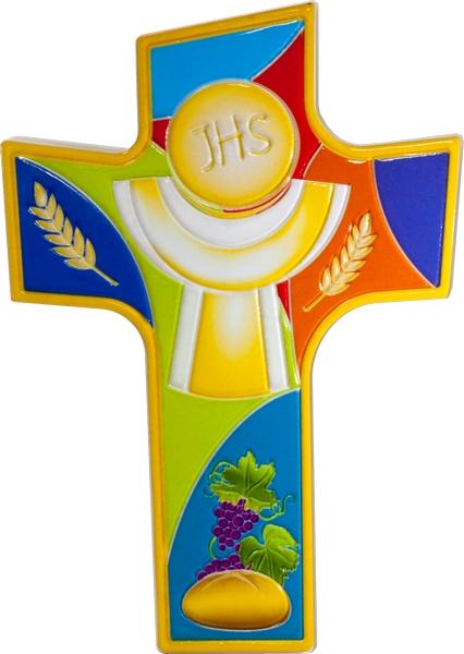 Croce Prima Comunione con finitura lucida