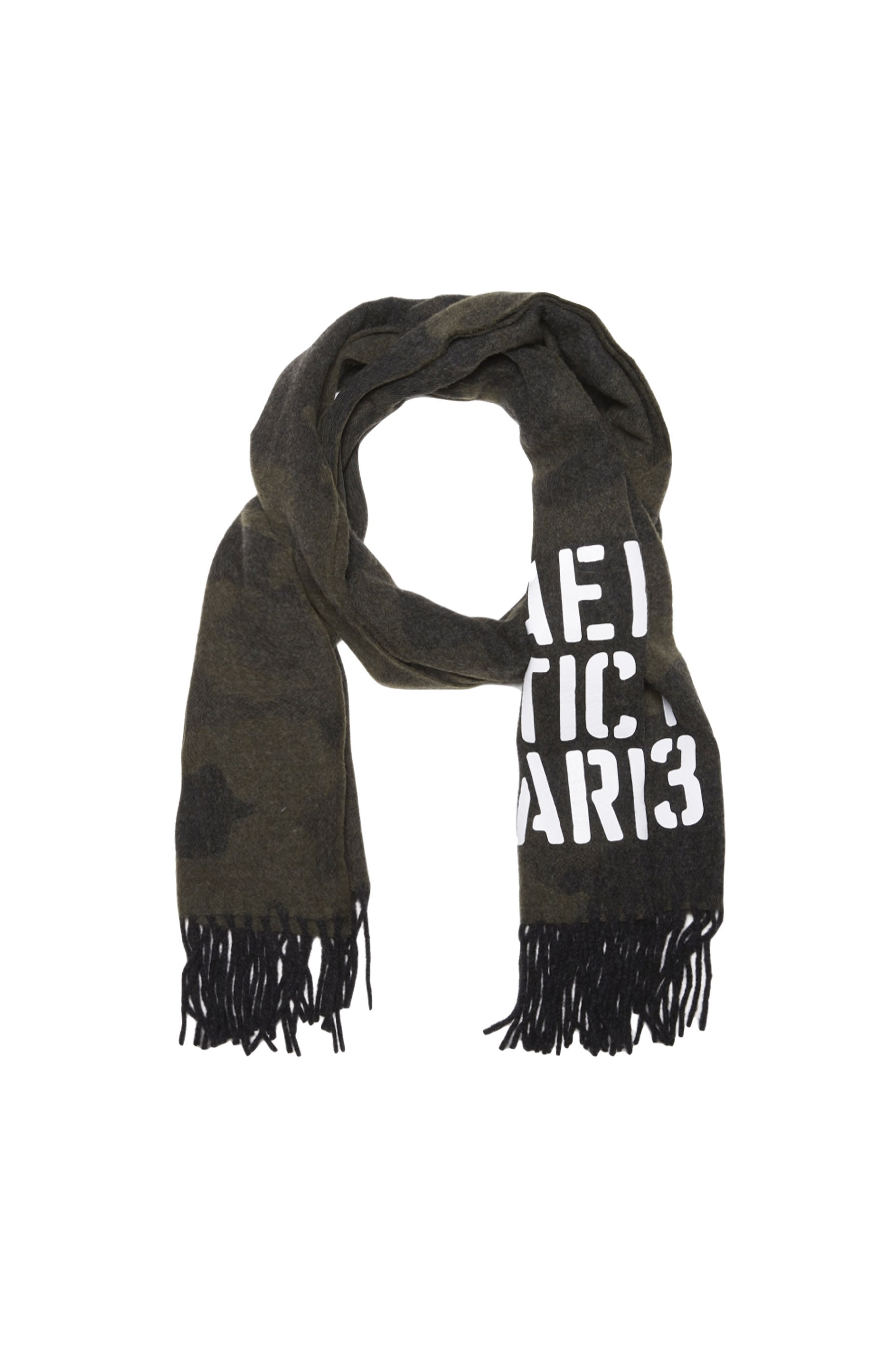 Wool blend camouflage scarf              1