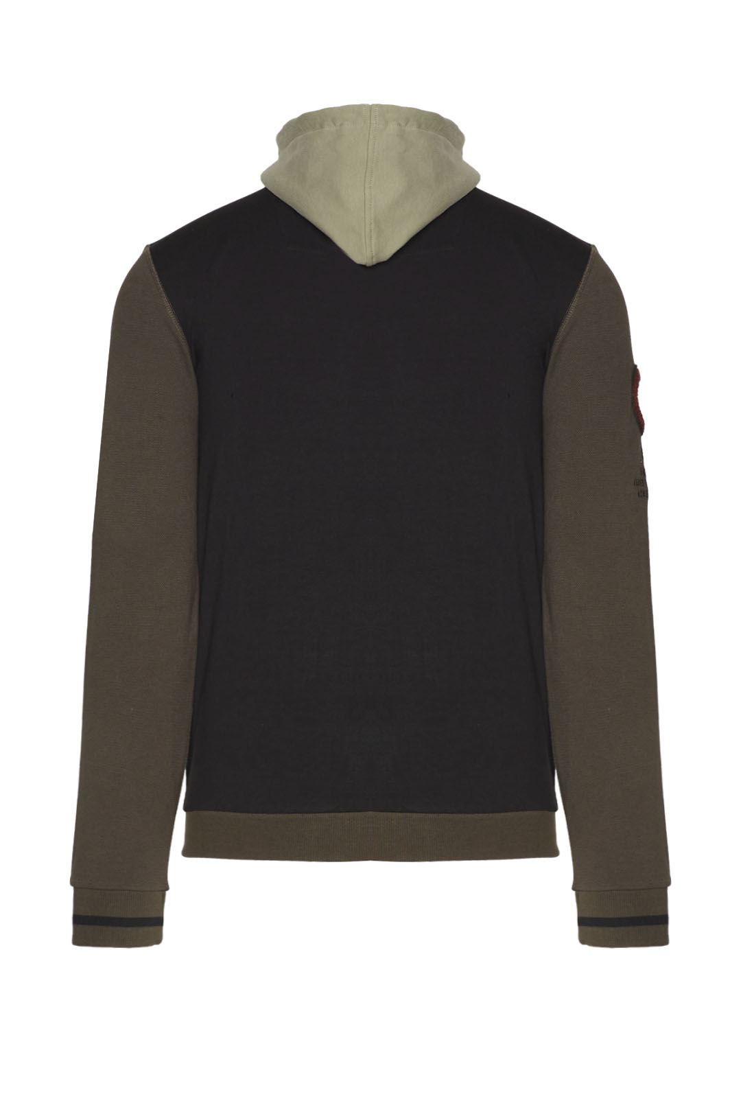Stretch sweatshirt with removable hood   2