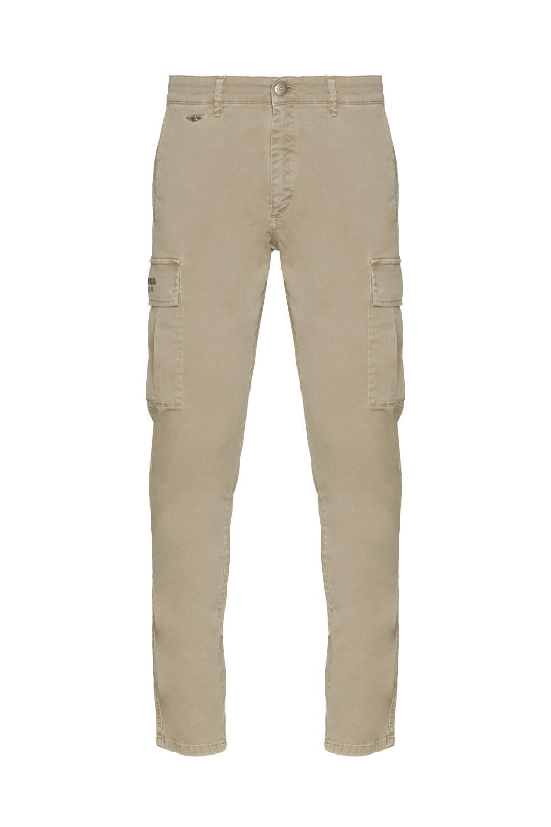 Pantalon multipoches en gabardine
