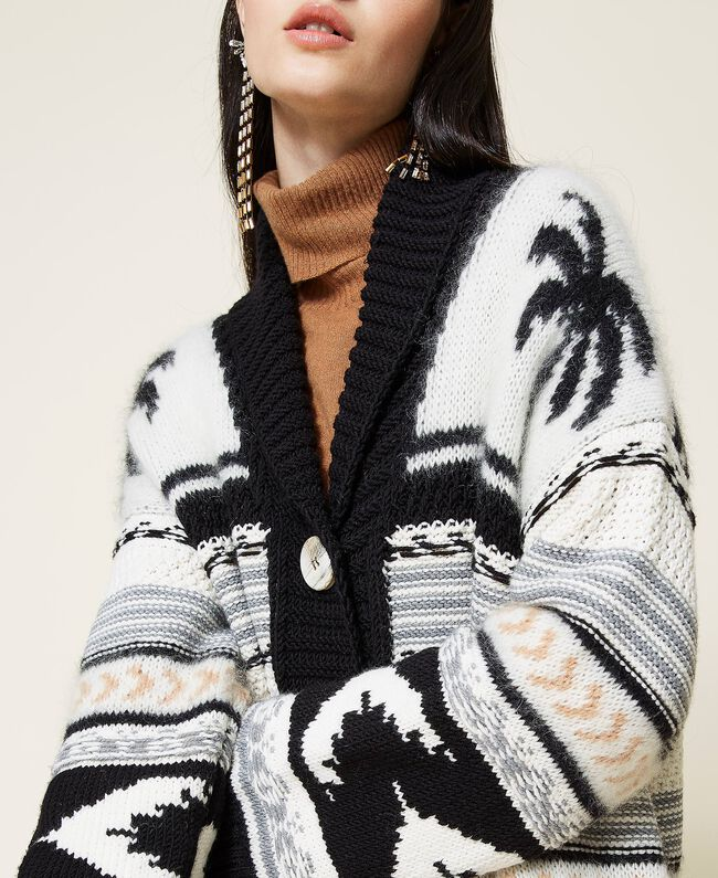 SHOPPING ON LINE TWINSET MILANO CARDIGAN COAT JACQUARD NEW COLLECTION PREVIEW FALL WINTER 2022-2