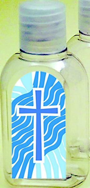 Bottiglietta plastica 50 ml. (1000 pz) Croce/Acqua