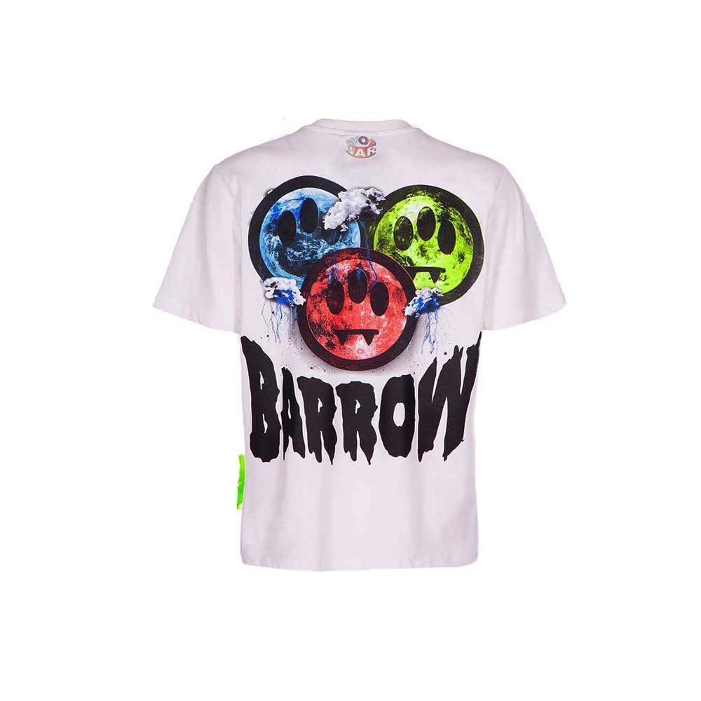 BARROW Tee Three Face White