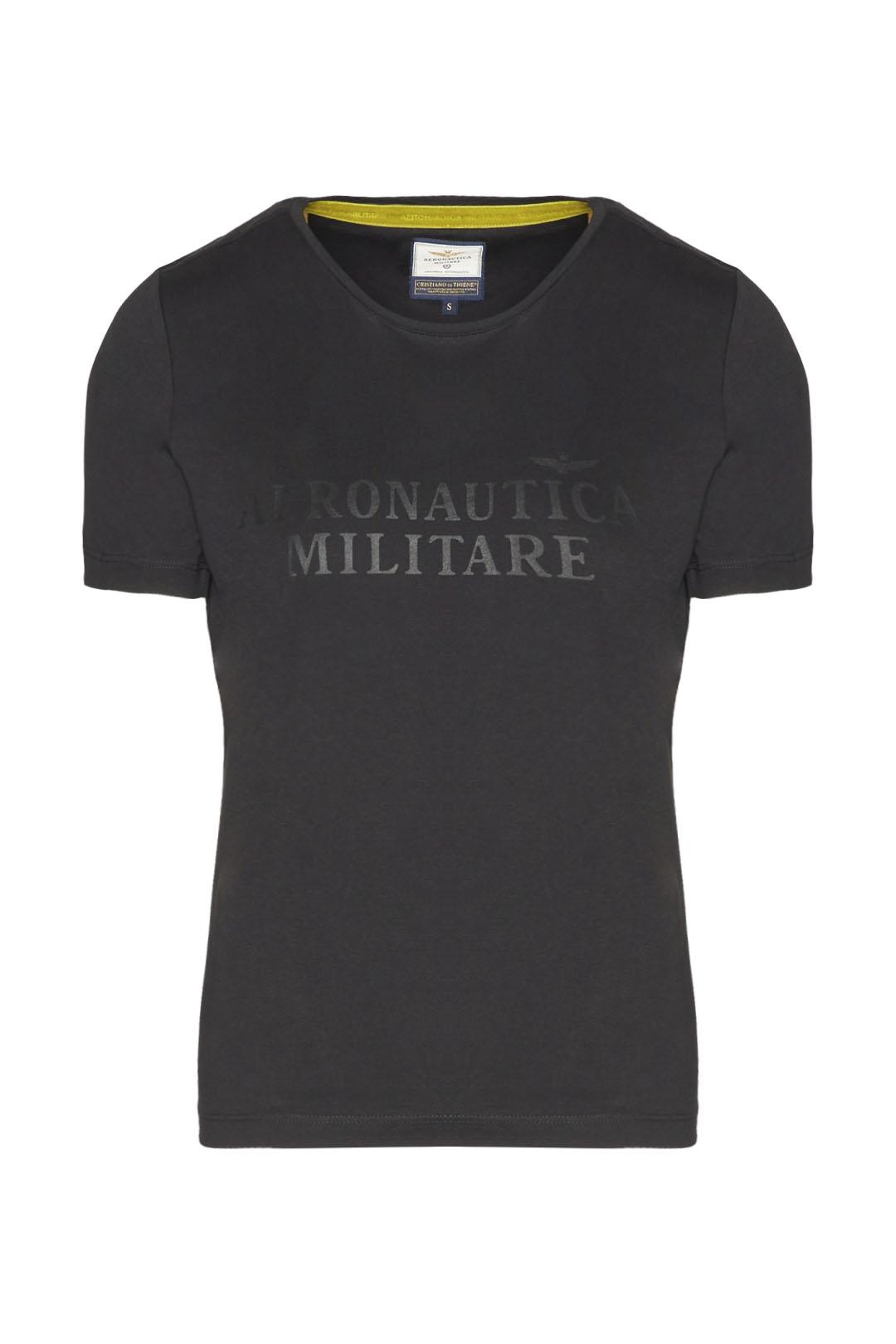 T-shirt col rond en coton stretch        1