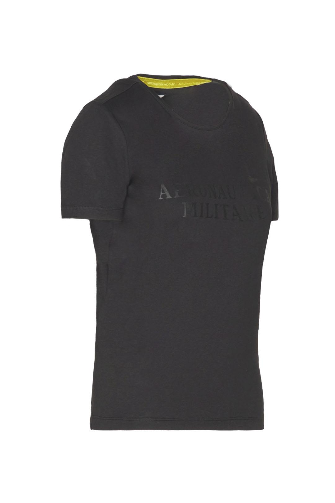 T-shirt girocollo in cotone stretch      2