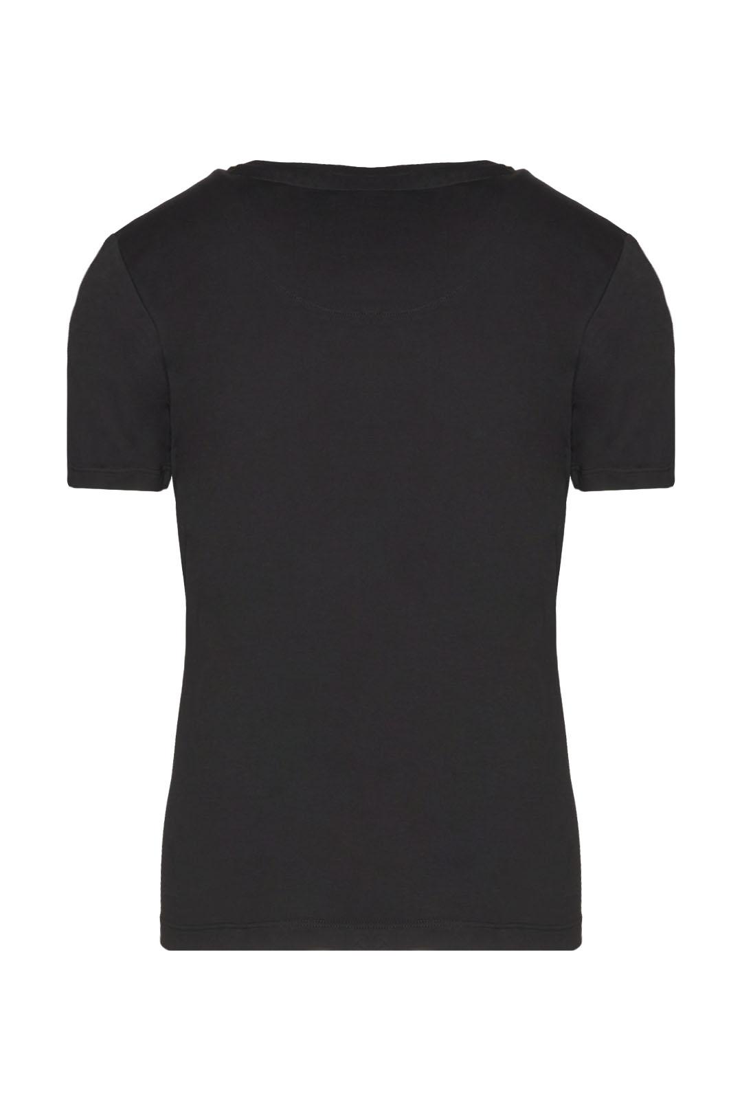 T-shirt girocollo con ricamo             2