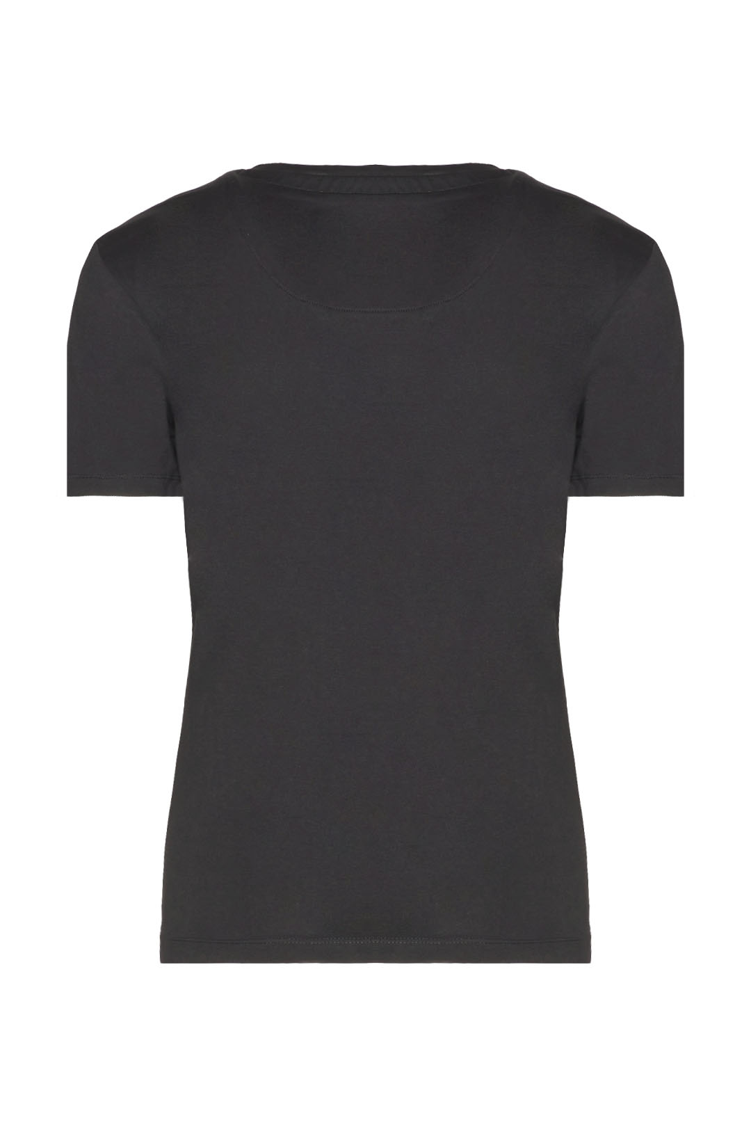T-shirt scollo a V con strass            2