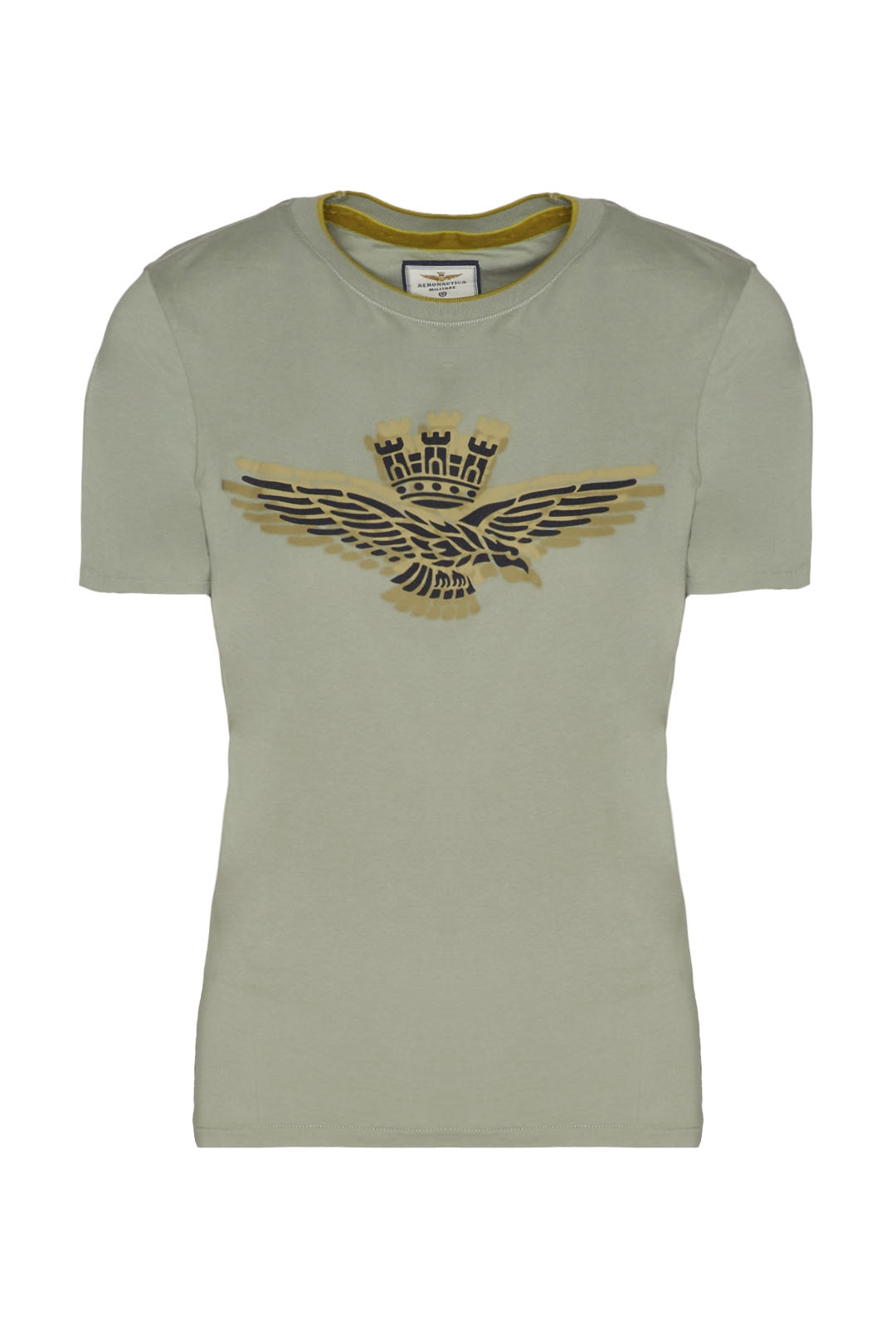 T-shirt girocollo con stampa             1