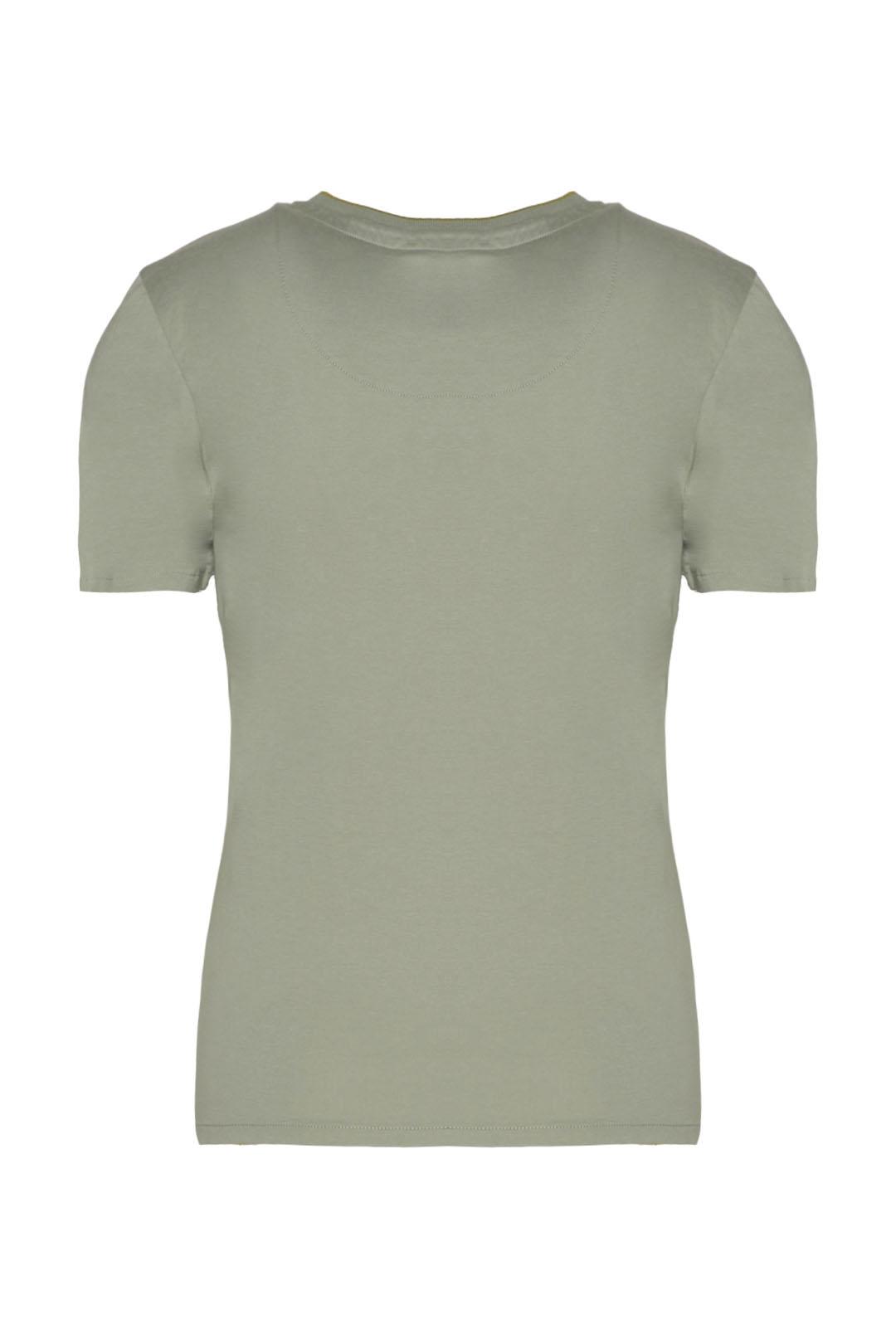 T-shirt girocollo con stampa             2