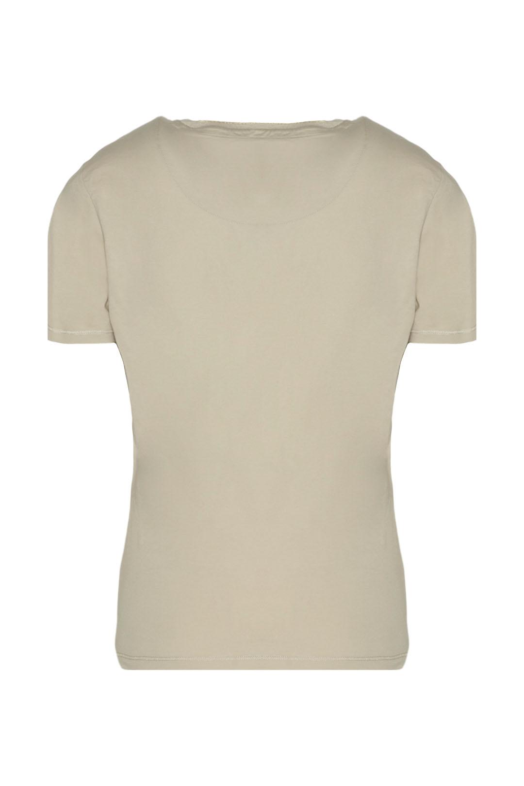 T-shirt col rond avec aigle brodé        2