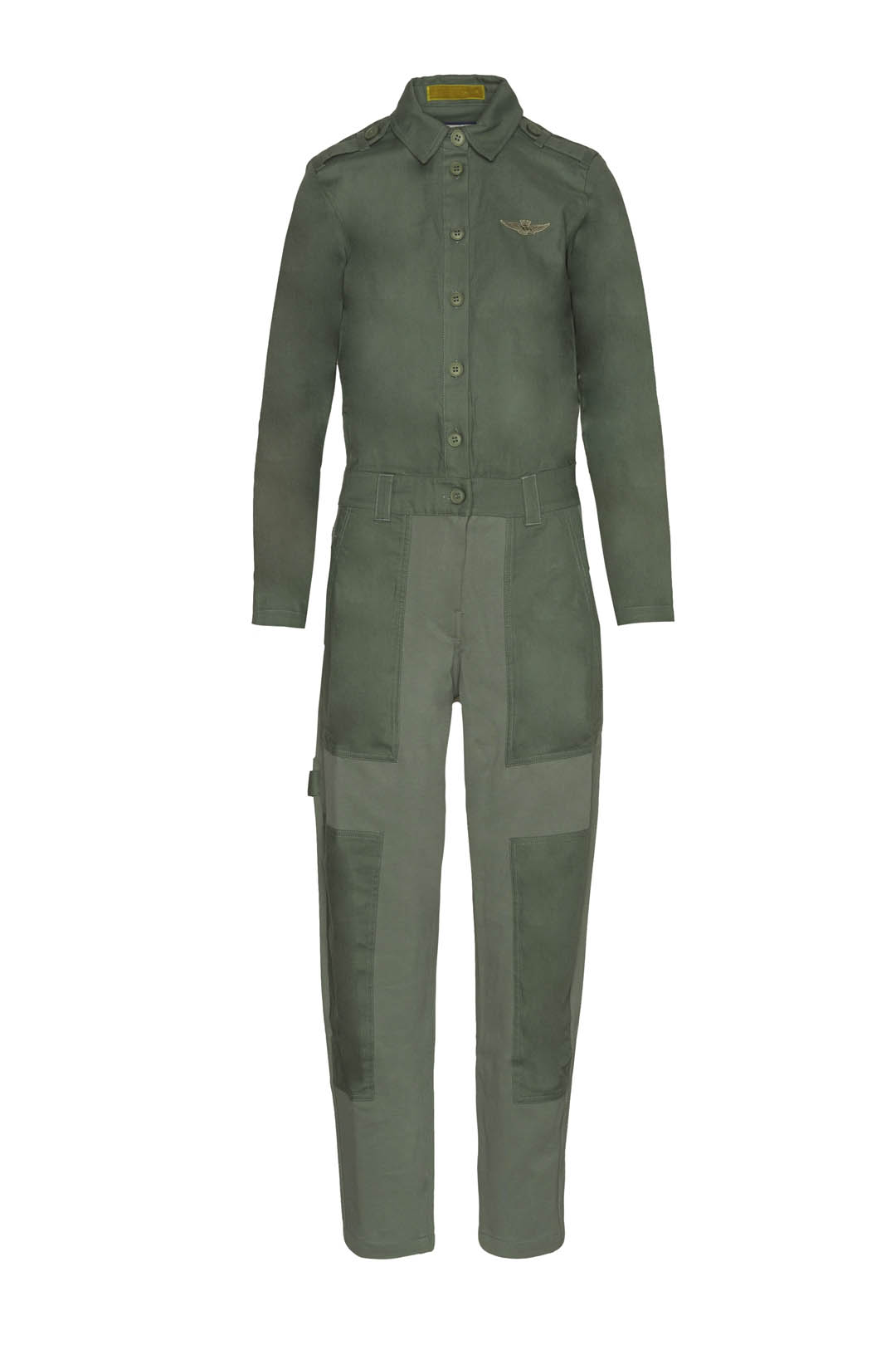 Milan stitch jumpsuit in cotton gabardie
