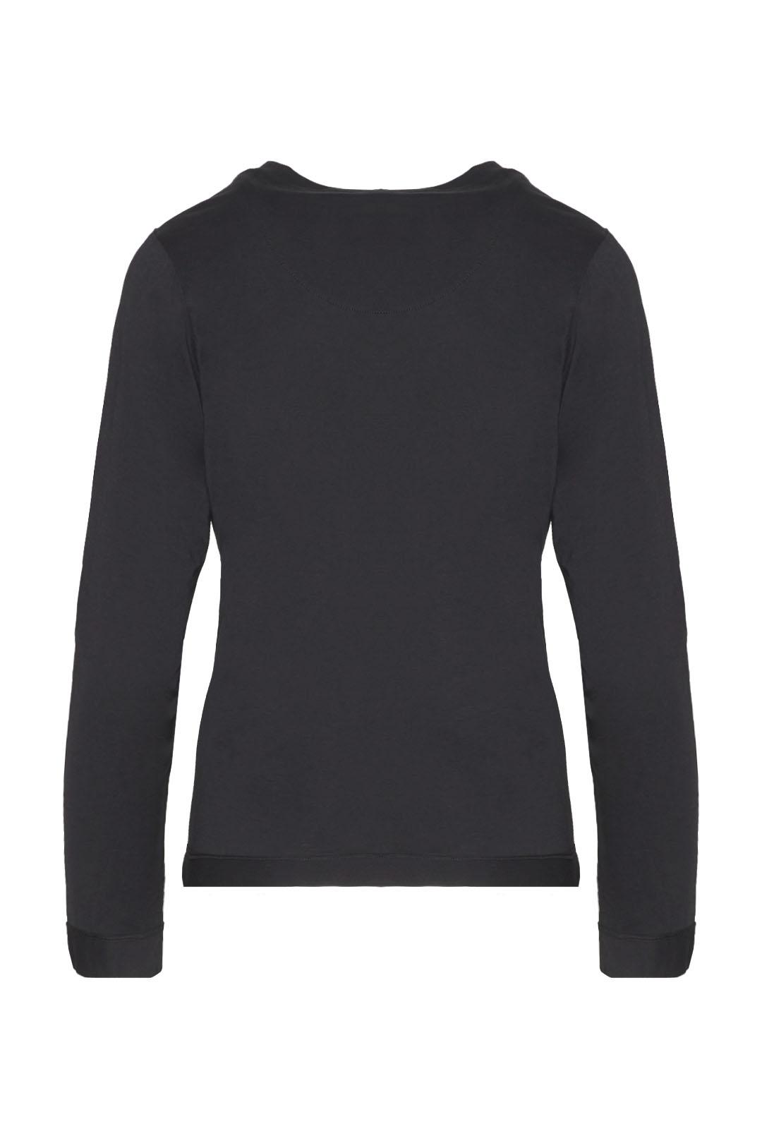 Long sleeve printed cotton t-shirt       2