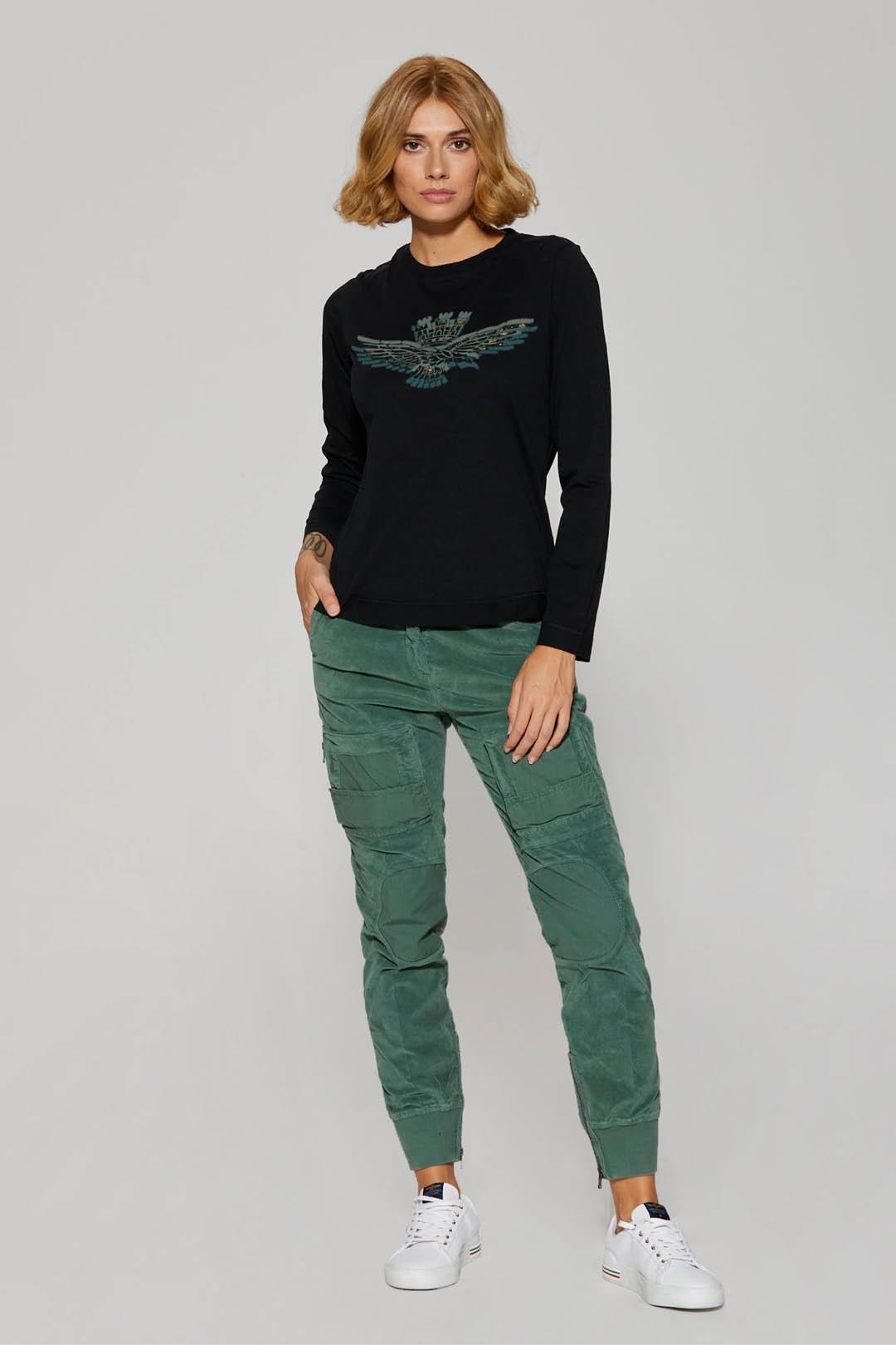 Long sleeve printed cotton t-shirt       4