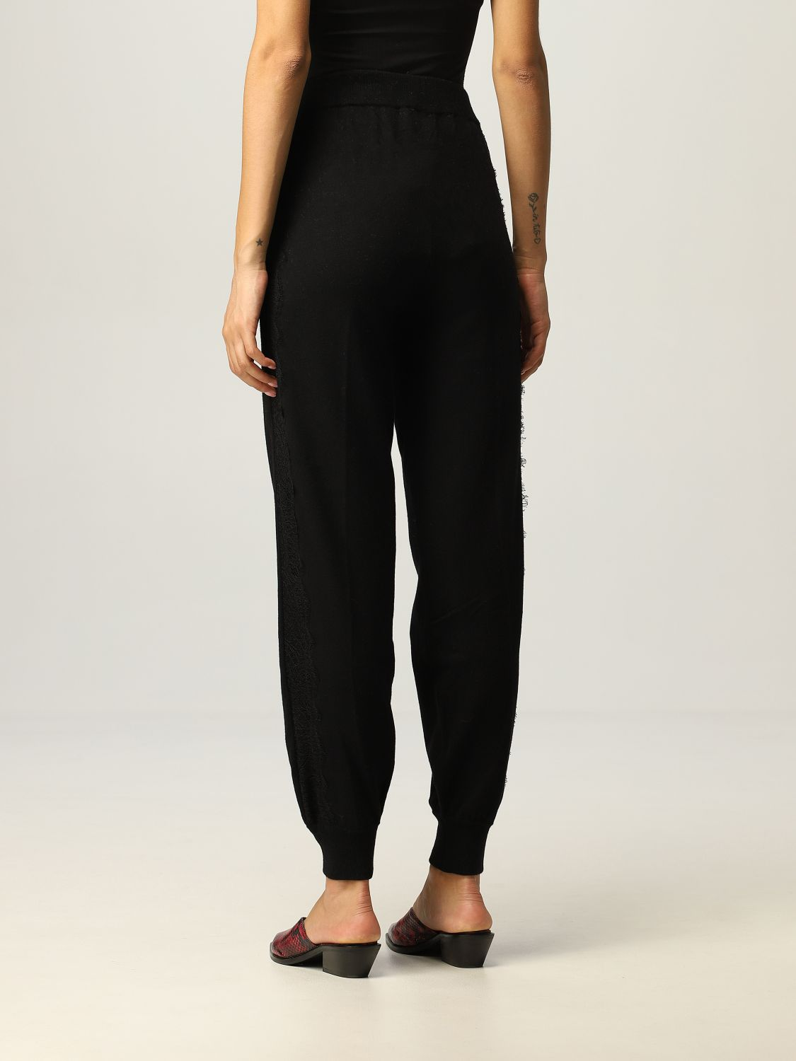 SHOPPING ON LINE TWINSET MILANO PANTALONI JOGGING IN MAGLIA CON PIZZO NEW COLLECTION PREVIEW FALL WINTER 2022-2