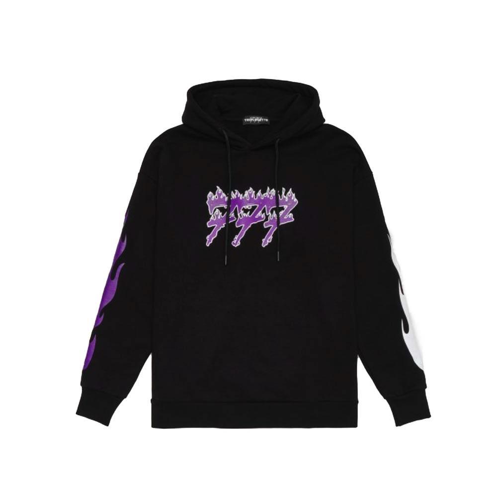 TRIPLOSETTEWEAR Hoodie Fire Logo Black