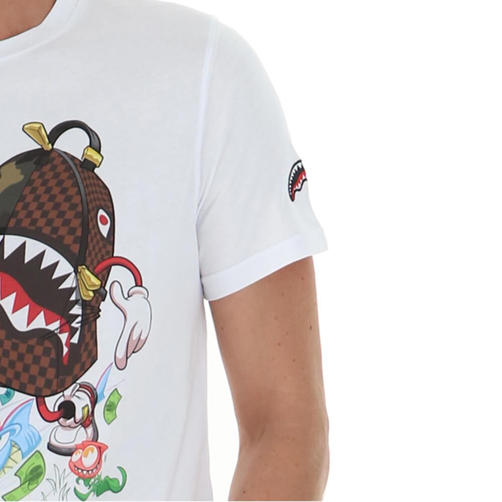 T-Shirt Sprayground SP130 - WHITE A.1